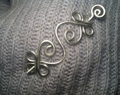 VERY STURDY Silver CELTIC Brooch or Shawl Pin made with 9g Aluminum - Elegant and Decorative Pin/Brooch to gift on December