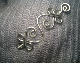 STURDY Silver CELTIC Brooch or Shawl Pin made with 9g Aluminum - Elegant and Decorative Pin/Brooch to gift on December