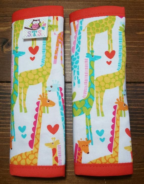 Giraffe Car Seat Strap Covers