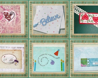 Handmade Greeting Card of the Month Club Membership -  12 Months - One Month Request a Card