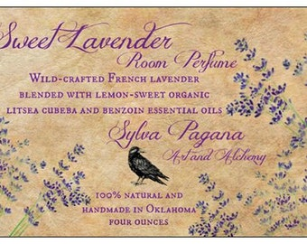 Natural room spray - air freshener spray mist - SWEET LAVENDER Room Perfume - corset, lingerie, linens deodorizer - essential oils