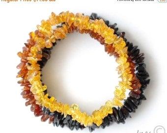 15% OFF THRU OCT Raw Polished Baltic Amber Rainbow Necklace