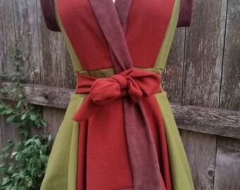 Fleece Lined Wool Vest- Size Small/Medium