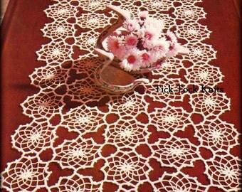 No.487 Crochet Pattern PDF Vintage - Fractals Table Runner - Thread Crochet Lace Motif Table Setting - 1970's Retro Crochet Pattern