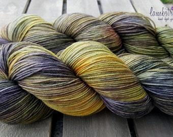 Ewetopia Sock 4 ply, Hand dyed yarn, Superwash merino wool,  438 yds/ 100g: Tarnish.