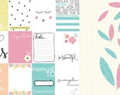 So beautiful pack de papeles para scrapbooking y plancha con 65 formas precortadas.