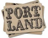 PDX Postcards, Retro Fonts, Gifts, Oregon Souvenirs