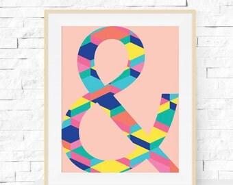 Amperstand Art Print - & Poster - Geometric Art - Modern Poster