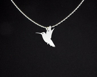 Hummingbird Necklace - Hummingbird Jewelry - Hummingbird Gift