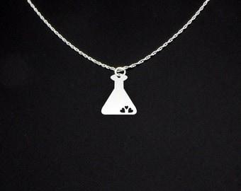 Love Potion Necklace - Beaker Necklace - Potion Jewelry - Potion Gift