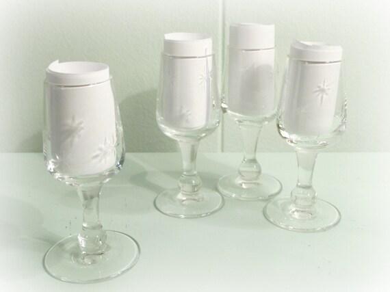 Mid century starburst crystal cordial stemware by retroechovintage - Starburst glassware ...