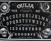"Ouija, Gothic, Punk sew on Patch 11cm X 16cm (4 1/4"" x 6 1/4""). High Quality, Woven style, Sew on Patch.Screaming Demons, Vintage Horror ,"