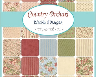 Country Orchard Fat Quarter Bundle by Blackbird Designs for Moda - One Fat Quarter Bundle - 2750AB