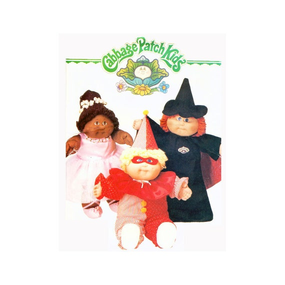 1980s cabbage patch kids halloween costumes sewing pattern for Cabbage patch kids halloween