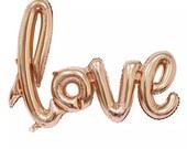 "LOVE Balloons - HUGE Balloon Red or Rose Gold Big Heart Balloon Love Balloons Wedding Ballon 42"" ( Wedding Decor & Party Balloon Supplies )"