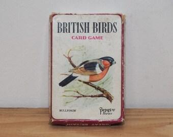 British Birds card game, vintage wildlife flashcards, Pepys Series England