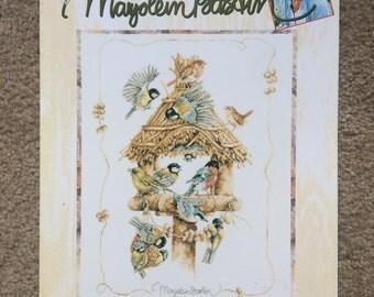 Gathering Bird Feeder Marjolein Bastin - Counted Cross Stitch Pattern Chart, Lanarte by Leisure Arts 3170