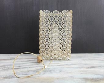 Vintage Diamond shaped plastic wall mount light