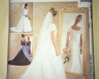 CLEARANCE Uncut Modest Wedding Dress & Bridesmaid Pattern McCall's #3046 - Sizes 12-14-16