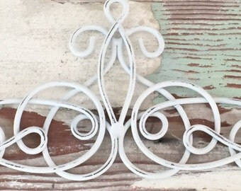 White Iron Wall Decor Amusing White Wall Decor Etsy Inspiration
