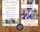 DIGITAL - LuLaRoe Business Cards - Single OR Double Sided - for LuLaRoe consultants - Fonts and Colors LuLaRoe approved -Item LuLaBC005