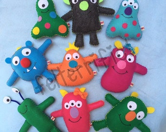 Super Party Pack- Adopt A Monster  Handmade Stuffed Friends  Choose 20, 22 or 24