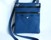 Hip bag- Blue duck cloth canvas