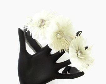 Silk Flower Headband - Flower Girl Hair Accessory - Flower Fascinator Band - Spring Inspired Hair Accent
