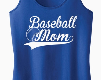 Baseball Mom Racerback Tank Top