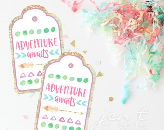 Adventure Awaits Back to School Favor Tags
