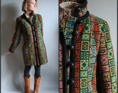 Ethnic Coat Boxy Embroidered Tapestry Upholstery Style Fabric Exotic Colorful