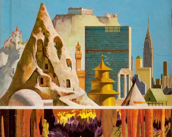 The How and Why Wonder Book of Caves To Skyscrapers by Irving Robbin, illustrated by Robert Doremus