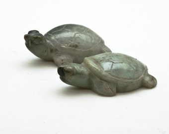 Jade Turtle, Hand Carved Green Jade Stone Turtle, Gemstone Nephrite Jade Turtle Figurine, Collectible Turtle Art, Turtle Decor, Turtle Gifts