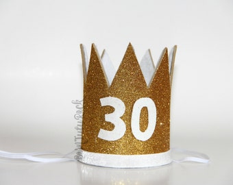 30th Birthday Crown // CUSTOM 30th Birthday Crown // Dirty Thirty //  by Born TuTu Rock