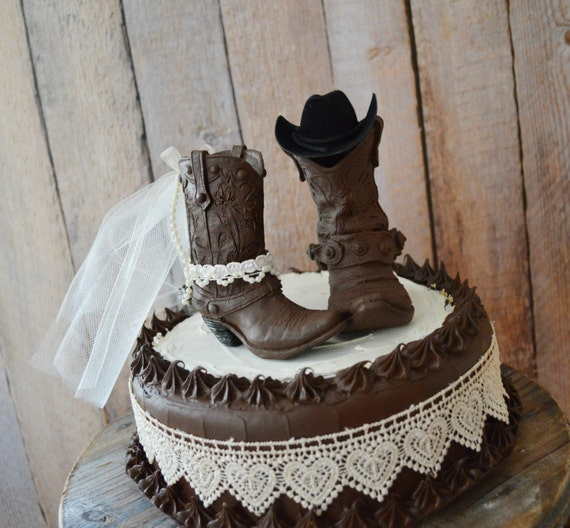 cowboy themed wedding cake toppers western wedding cowboy boot cake topper western and 13026