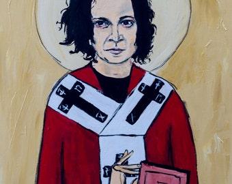 Saint Jack. Jack White 11x17 Musician art print. White Stripes. Dead Weather. Music Art.