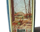 Duratone playing cards, bridge deck in case with pheasants in autumn colors
