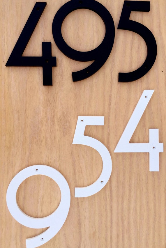 7 inch art deco house numbers letters. Black Bedroom Furniture Sets. Home Design Ideas