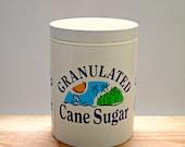 Vintage Sugar Tin Storage Jar