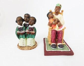 African American Figurines, Statues, Choir, Church Choir, Rocking Chair