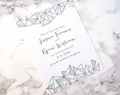 LETTERPRESS SAMPLE | Letterpress Save the Date | Geometric Save the Date | Save the Date without Photo | Watercolor Save the Date