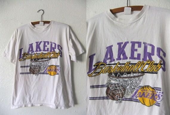Los Angeles LAKERS Throwback T Shirt NBA Basketball