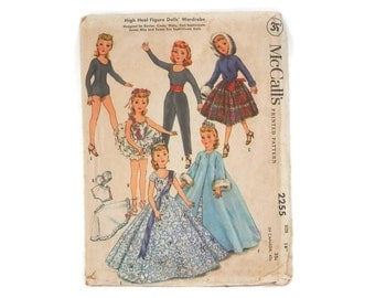 Vintage Sewing Pattern Doll Clothing MCalls #2255 Wardrobe Revlon Cindy Missy Toni Sophisticate Sweet Sue