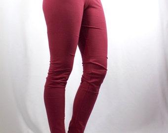 NEW! Womens Yoga Pants - Full Length in Cotton Spandex - 'Dvadasa' - Yoga Leggings Yoga Clothes