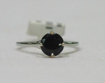 Elegant Black Onyx Alternative Engagement Ring