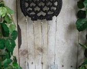Owl Trivet Up Cycled into Wind Chime with Stained Glass Chimes