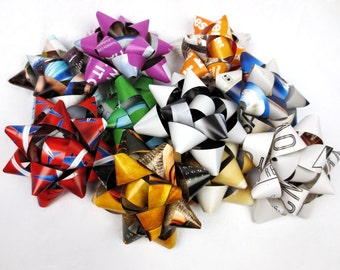 10 Gift Bows - Up-cycled Magazine pages