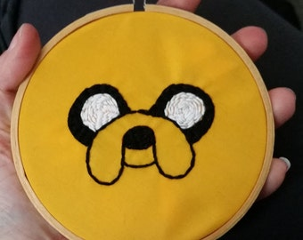 Adventure Time - Jake the Dog Embroidered Hoop Art