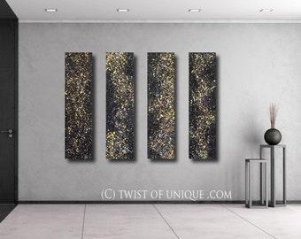 Stars and Night sky Painting / CUSTOM Painting /48x10/ cosmos, milky way, stars, night sky, galaxy, space paintings, Night sky landscape