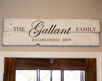 Rustic Family Established Sign - Personalized